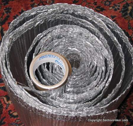 Roll of Reflextix for Homemade Backpacking Gear Projects
