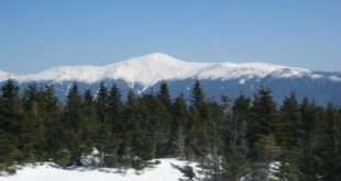 Mt Washington and the Presidential Range from the summit of Mt Hale