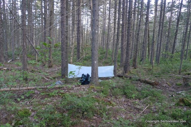 Very Low Impact Camping at a Pristine Site