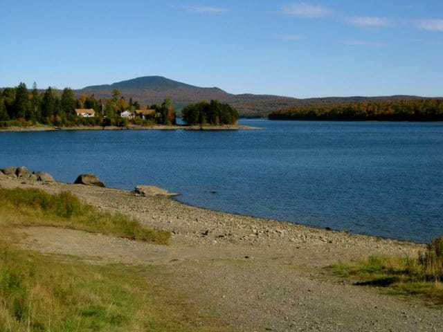 Mount Magalloway over First Connecticut Lake, up north in Pittsburg.