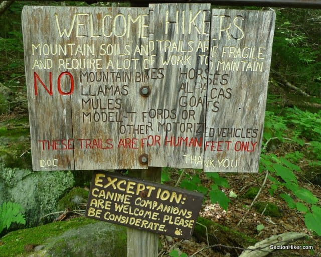 Leave No Trace Sign, White Mountains