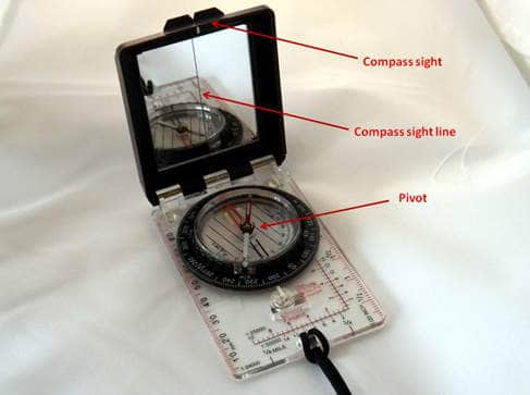 A significant feature to improve sighting accuracy is with the mirrored black box component of the compass.