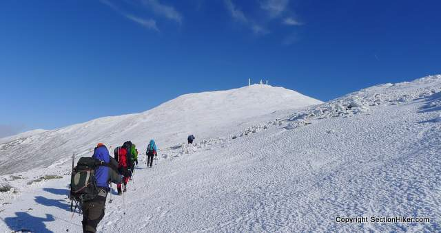 Climbing Mt Washington in Winter