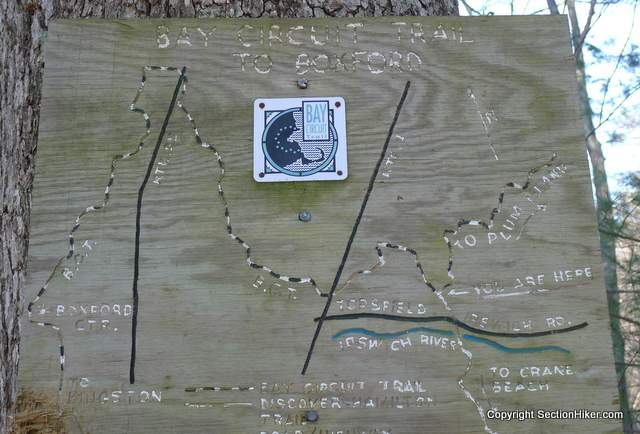 Outdated BCT Map nailed to Tree in Willowdale State Forest
