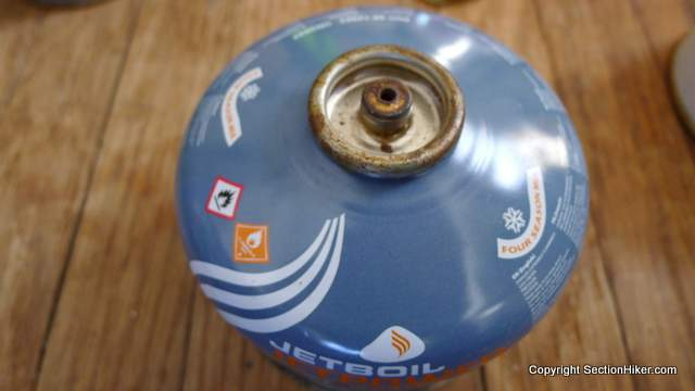 Rusted JetBoil Canister