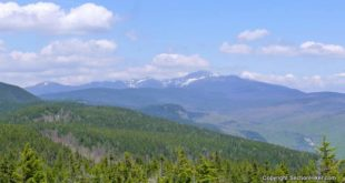 Mt Washington and the Rocky Branch watershed seen from the summit of Mt Parker