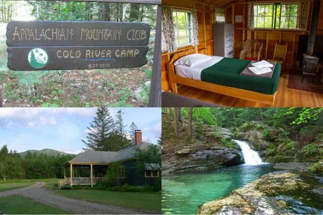 The Appalachian Mountain Club's Cold River Camp in a family oriented lodge in the White Mountain National Forest