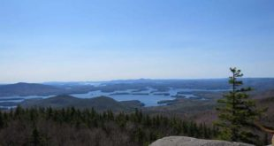 Squam Lake from the summit ledges of Mt Percival