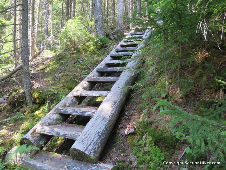 One of seven steep ladders on the south side of Stowe Mtn on the Grafton Loop Trail.