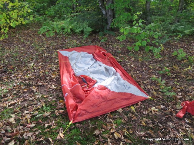 The High Route has a rectangular shape which makes it easy to find suitable campsites and set up.