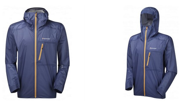 The Montane Minimus 777 Rain Shell weighs just 5.1 ounces (144 grams) in a Men's XL.