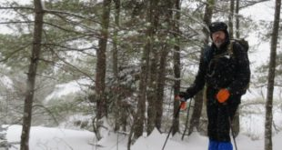 Off-Trail Snowshoeing in Deep Powder on Cave Mountain, White Mountains