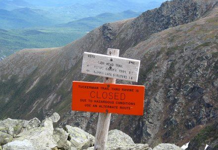 Tuckerman's Ravine is Closed
