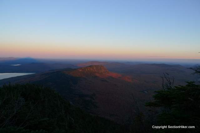 Little Bigelow Mountain at Sunset