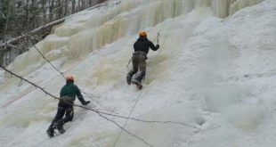 Ice Climbing at Frankenstein Cliffs, White Mountains