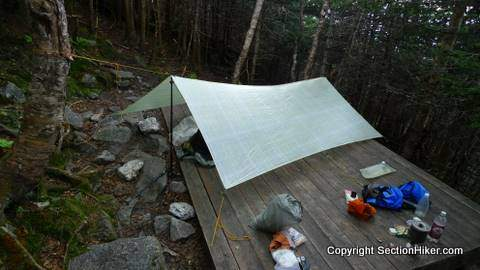Camping at The Perch Shelter and Campsite