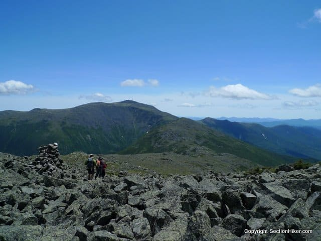 Mt Washington and the Southern Presidentials (right)