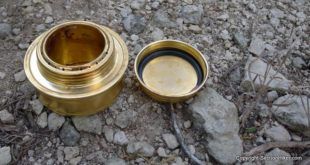 Esbit alcohol stove and cap