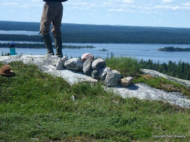 Pile of rocks on the summit – clearly the hand of man