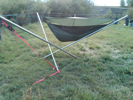 3 Pole Person Tensegrity Stand DIY