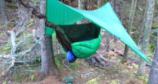 Hennessey Hammock Ultralite Backpacker Asym Classic with a Down Underquit at Lost Pond, New Hampshire