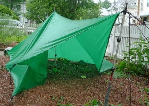 Low Tetra Tarp Pitch with Vestibule