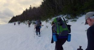 Snowshoeing up the Polecat Trail