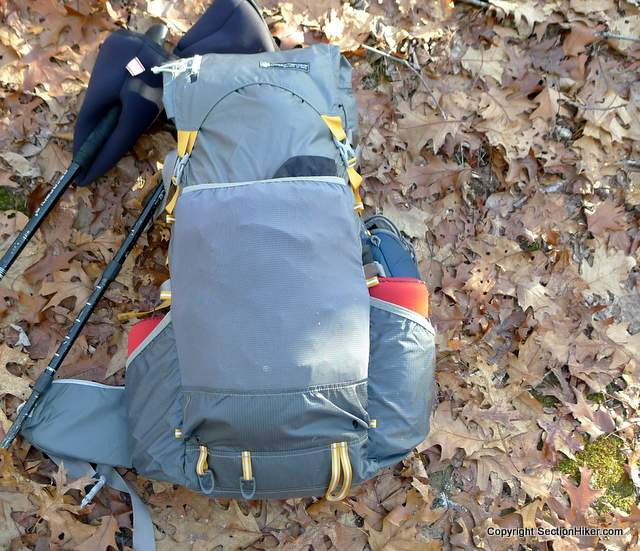 The Gossamer Gear Gorilla Backpack has a Durable Front Mesh Pocket and Solid Fabric Bottle Pockets for Increased Durability
