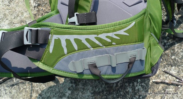 Gear loops on hip belts make it easy to rack climbing gear: Osprey Packs Mutant 38