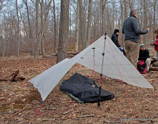 Ultralight Bivy Sack under a floorless Cuben Fiber Tarp