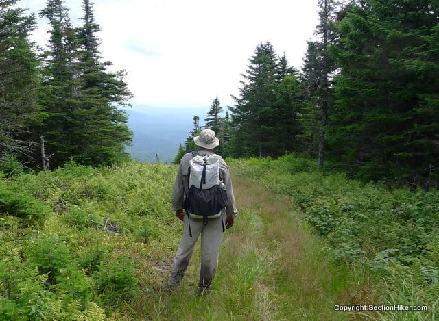 Hiking along the border swath between Quebec and New Hampshire