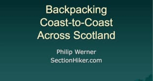 Backpacking across Scotland Slideshow