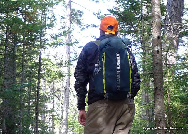 Day hiking with the Ultimate Direction Fastpack 20 on Iron Mountain, NH