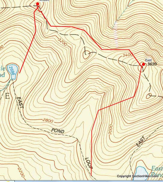 Approximate Route (Click for interactive map on Caltopo.com)