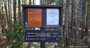 Mountain Pod Loop is a popular day hike near Jackson, NH.