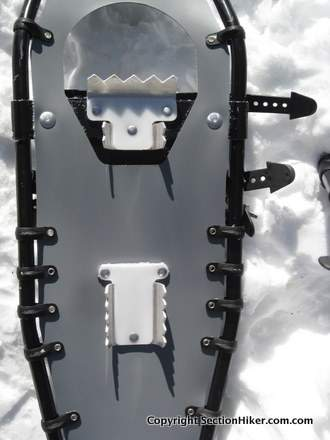 Aluminum crampons further reduce gear weight