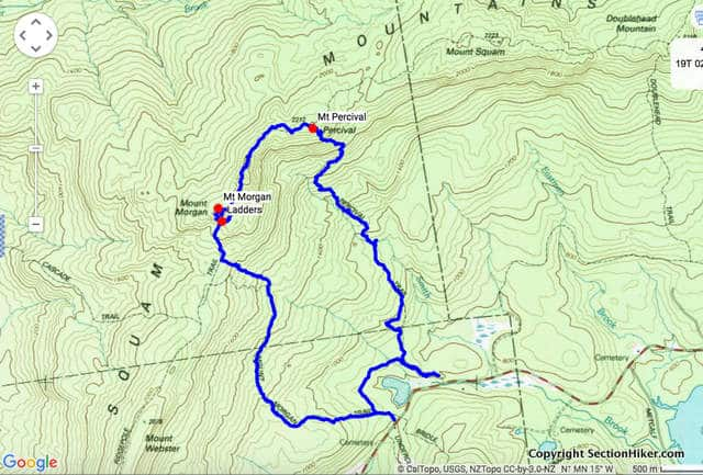 Morgan and Percival Loop (Click for Map and GPX on Caltopo.com)