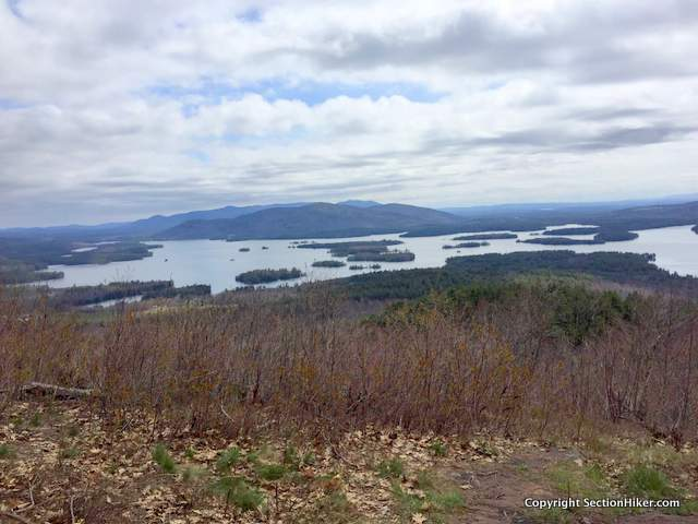 Squam Lake and Red Hill from the top of Mt Livermore