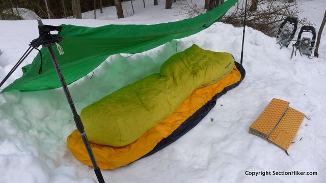 Winter sleeping bags have specialized features that help prevent heat loss in colder temperatures.