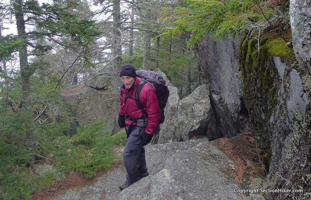 Rick Libby on the Algonquin Trail in 2015, New Hampshire