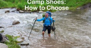 Camp shoes are not just for relaxing, but can be used for river crossings to keep your boots dry.