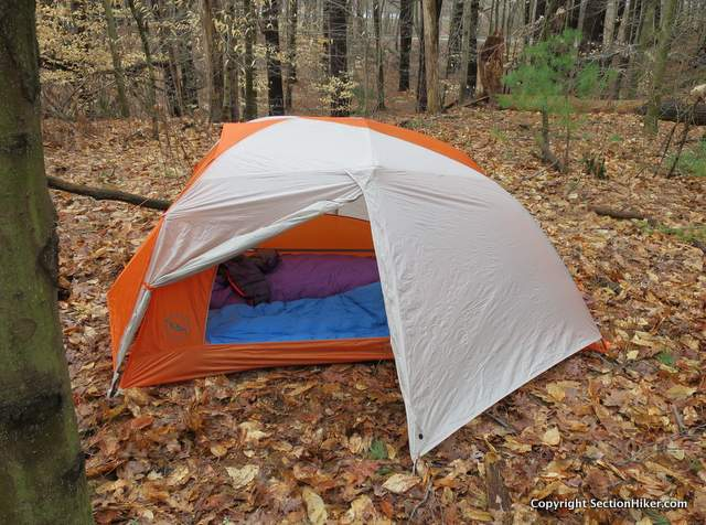 The Big Agnes Copper Spur HV UL 2 is a two person dome style tent with two side doors for convenient entry and exit.