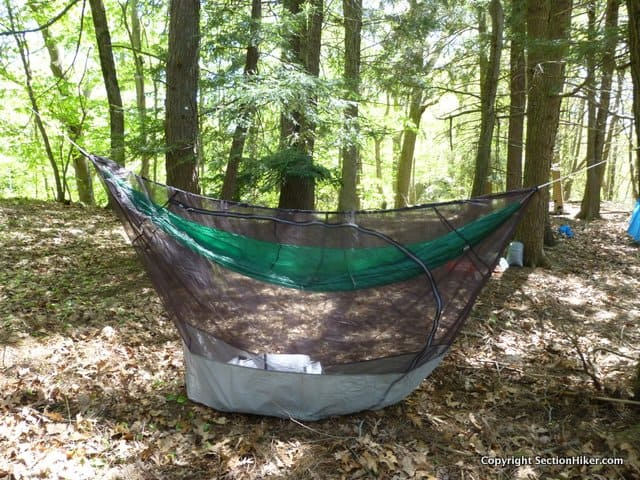 The Thermarest Slacker Bug Net Works With Any Hammock Including Parachute Hammocks That Dont