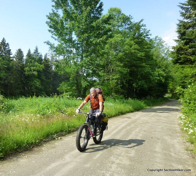 Ken rode a fat tire mountain bike on this trip, while I opted for a gravel bike