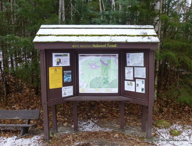 Trailhead Kiosk with Map and Information Notices