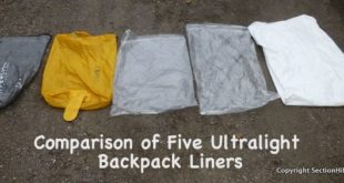 Comparison of five ul backpack liners