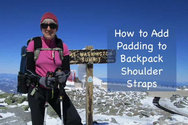 How to add padding to backpack shoulder straps