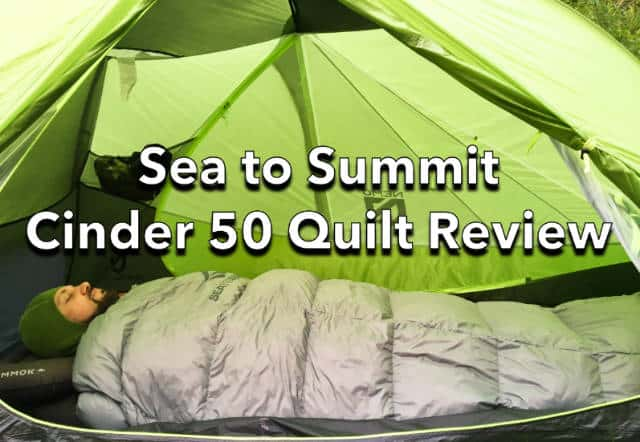 Sea to Summit Cinder 50 Quilt Review