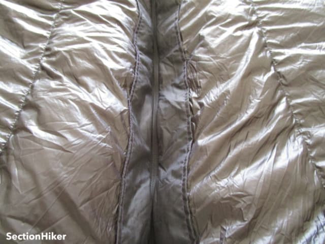 The Convert zipper has a built-in stiffener to prevent snags