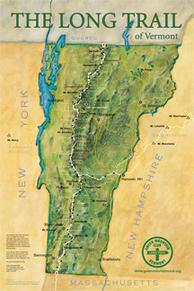 Map of Vermont's Long Trail